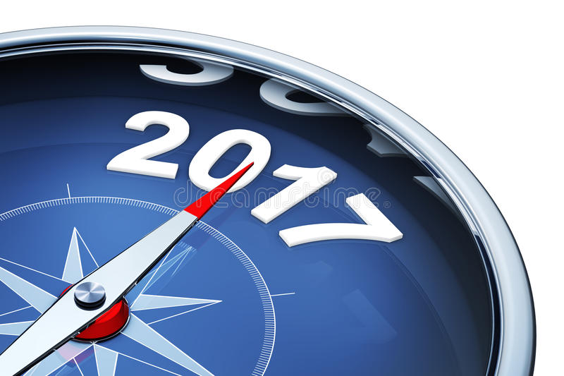 Compass 2017 stock illustration