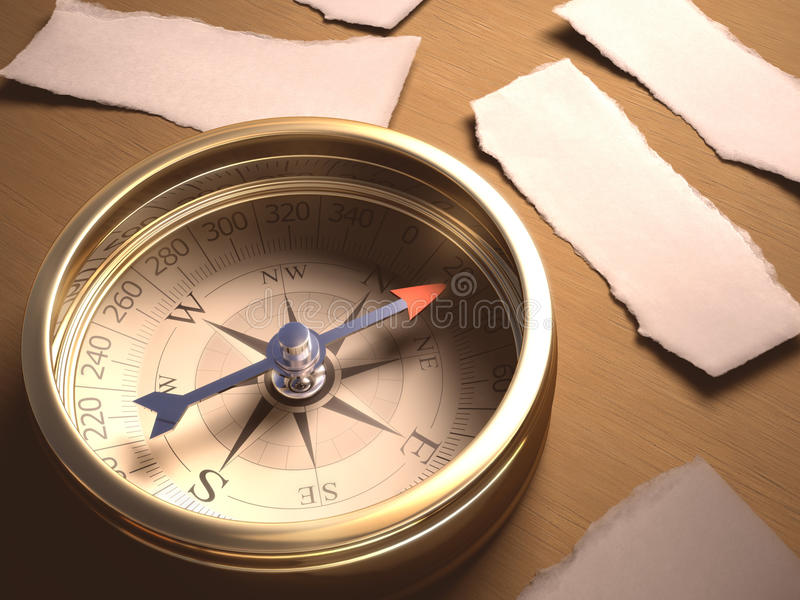 Compass Decision Stock Photo