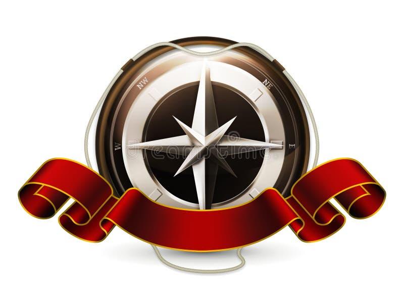 Compass Emblem Stock Photography
