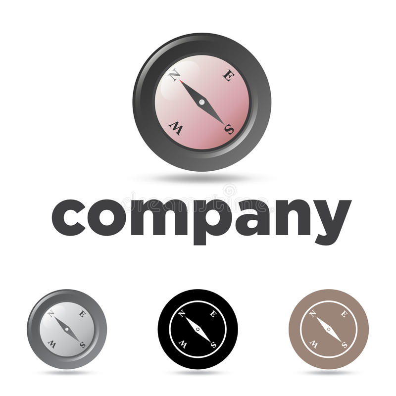 Download Compass Emblem stock vector. Image of grayscale, icon - 25635557