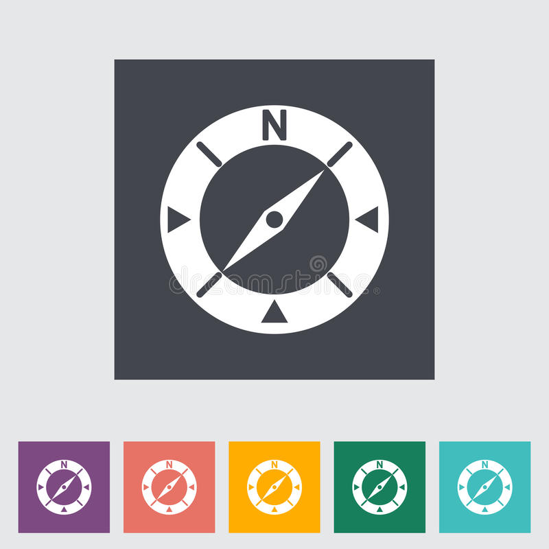 Compass Flat Icon Stock Vector Illustration Of East 34693024