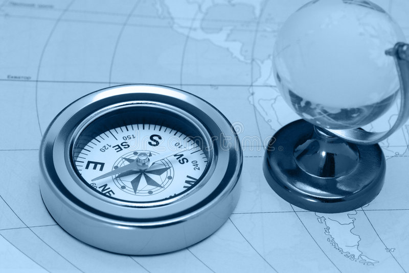 Download Compass And Glass Globe Royalty Free Stock Photo - Image: 8015985