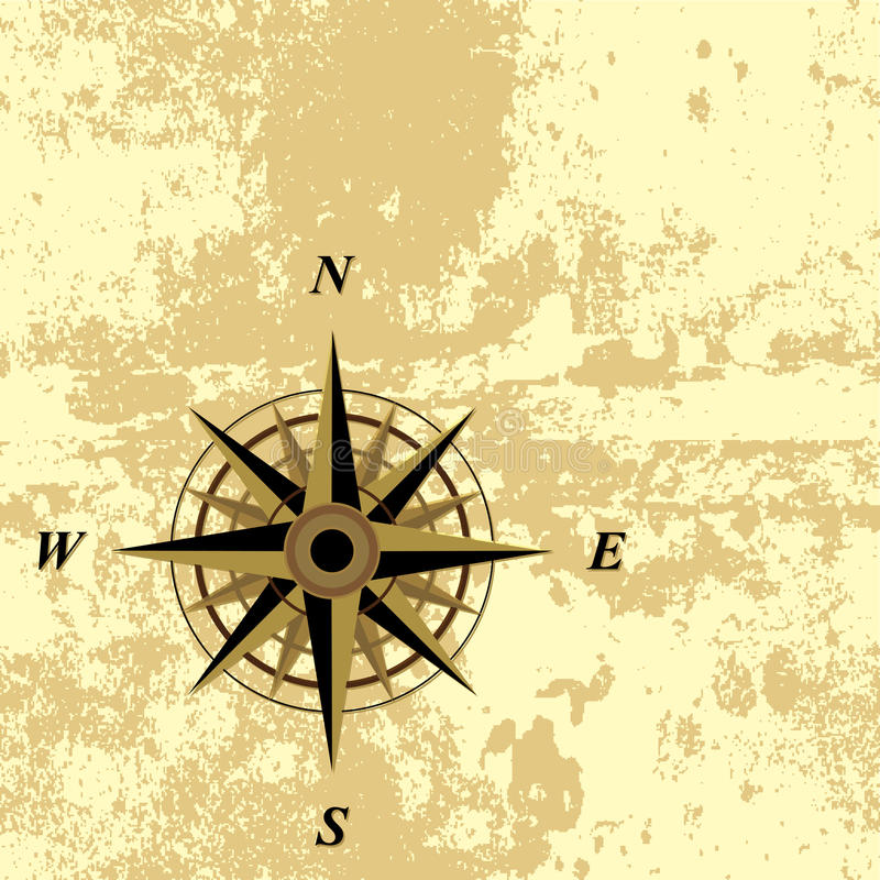 Compass grunge background stock illustration