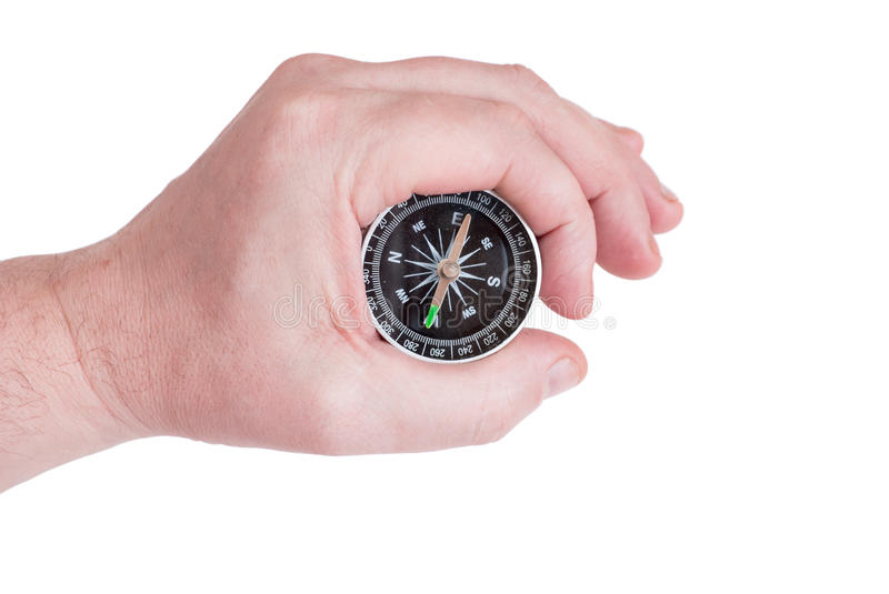 Download Compass in hand stock image. Image of show, instrument - 18911667