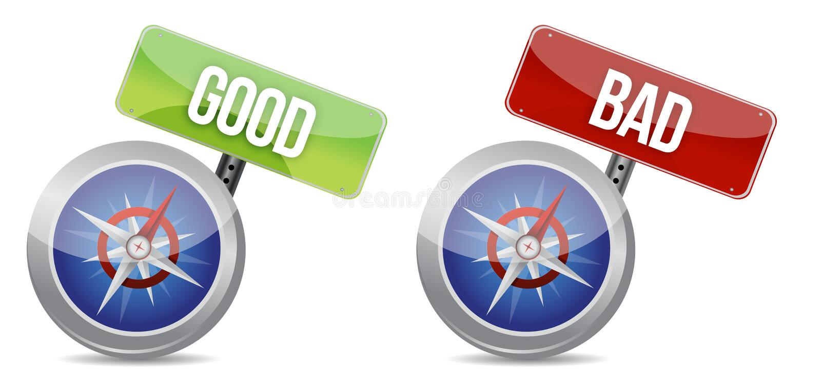 Download Compass Helping You To Make The Right Decision Stock Illustration - Image: 28956369