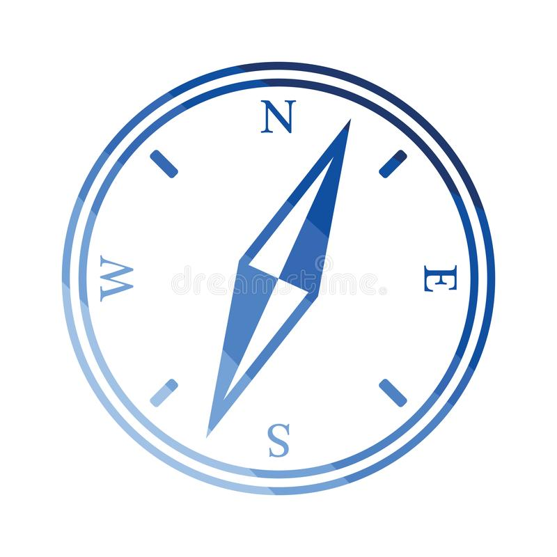 Compass icon royalty free illustration