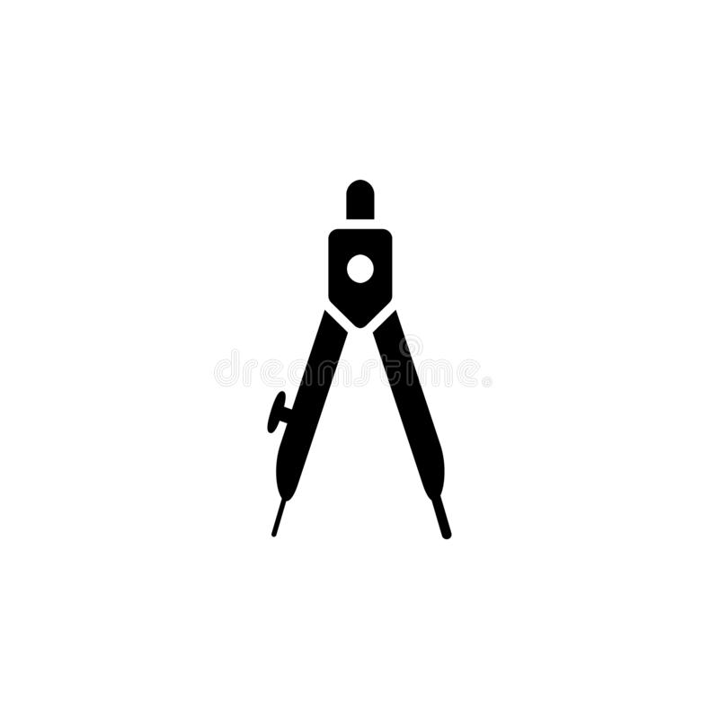 Compass Icon in trendy flat style isolated on grey background. Architecture symbol for your web site design, logo, app, UI. Vector stock illustration