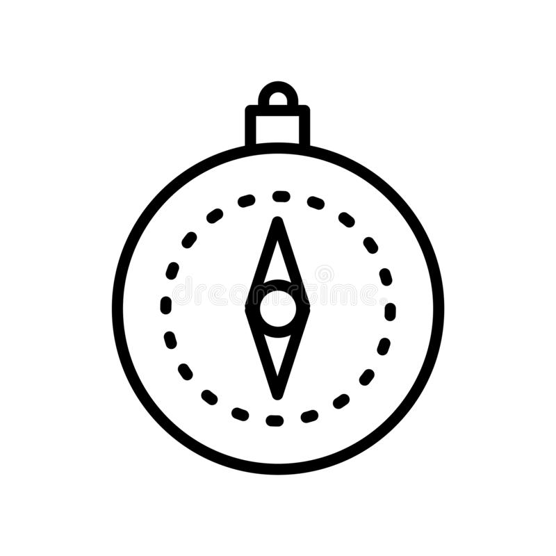 Compass icon vector isolated on white background, Compass sign , linear symbol and stroke design elements in outline style stock illustration