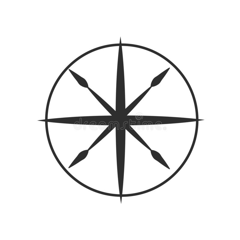 Compass icon vector sign and symbol isolated on white background, Compass logo concept vector illustration