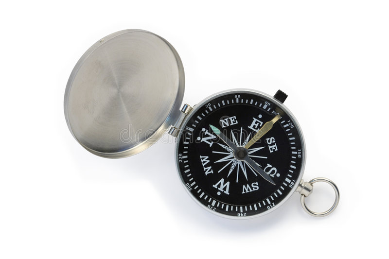 Compass isolated on white royalty free stock images