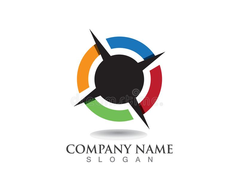 Compass logo signs and symbols template vector royalty free illustration