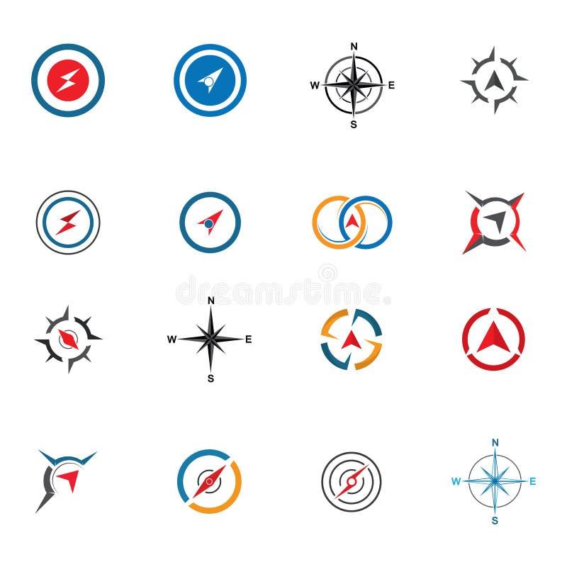 Compass logo  signs and symbols stock illustration