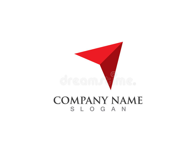 Compass logo and symbols icons stock illustration