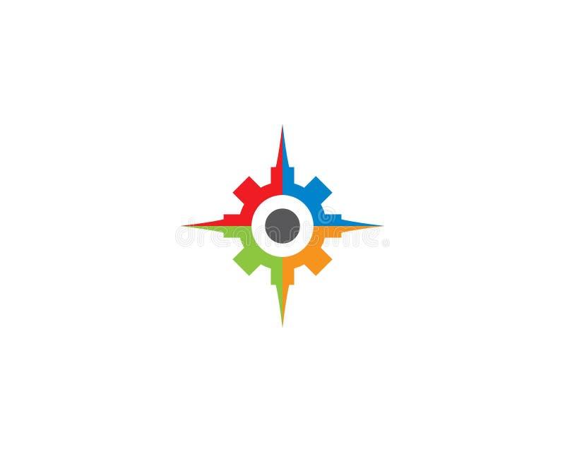 Compass Logo Template stock illustration