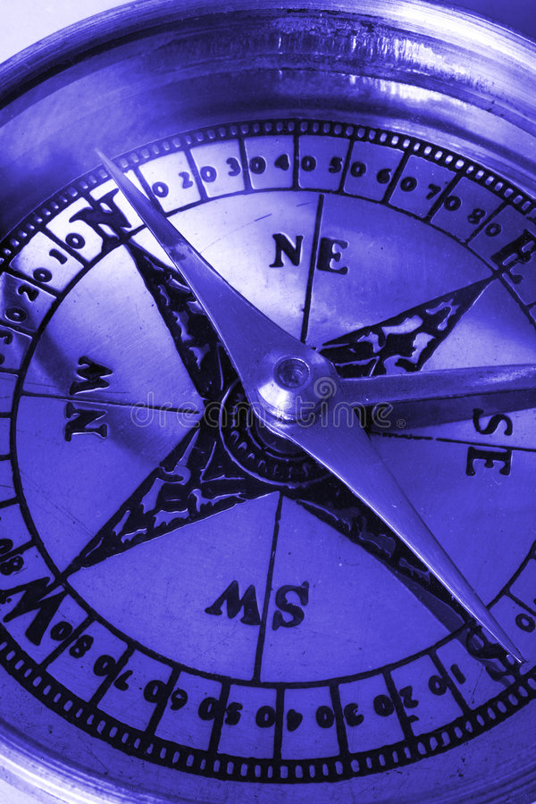 Download Compass macro in blue stock image. Image of monochrome - 2217791