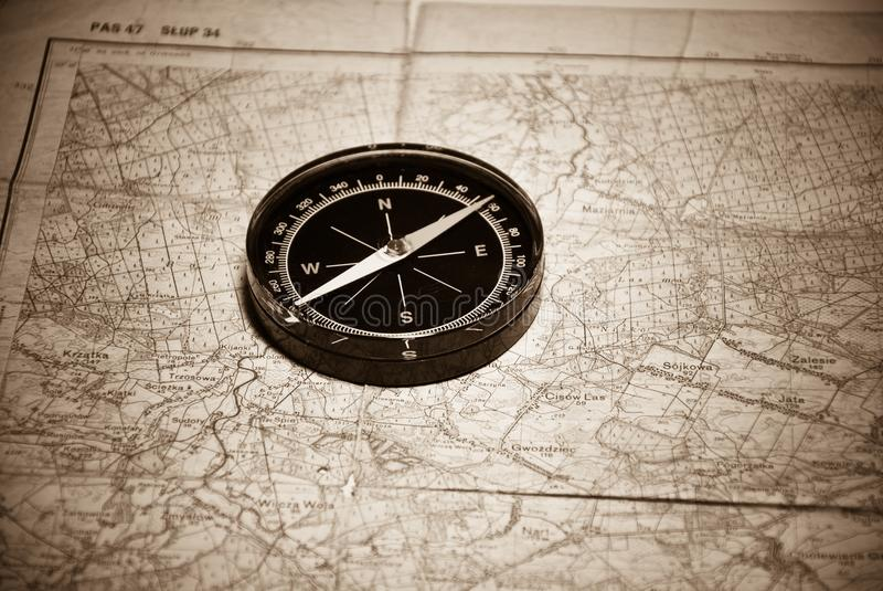 Download Compass & map stock photo. Image of south, navigation - 16234956