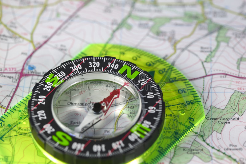 Download Compass on map stock image. Image of design, read, east - 1723787