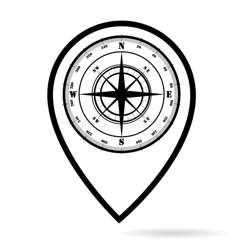 Compass_map_pin stock abbildung