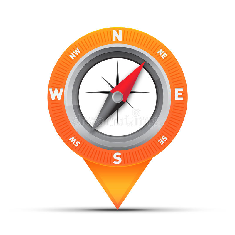 Free Compass Map Pin Stock Images - 23592704