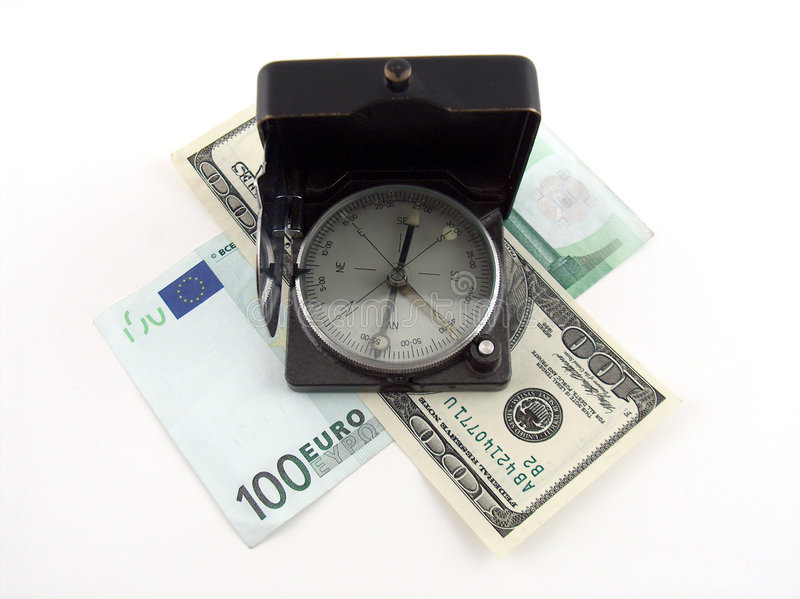 Download Compass on money stock image. Image of contract, boss, market - 120129