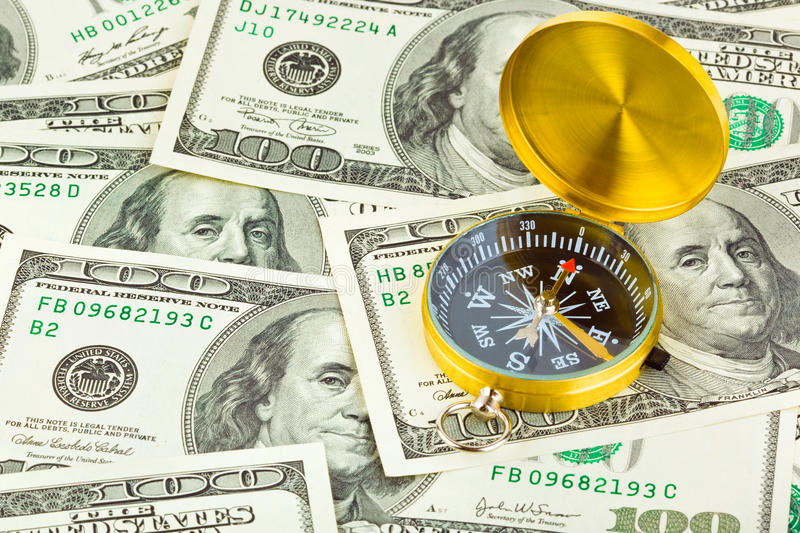 Download Compass And Money Stock Photography - Image: 14683152