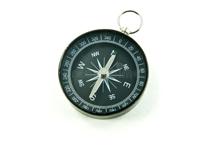Compass, the navigator. With shadow royalty free stock image