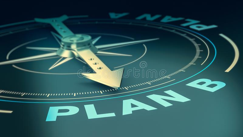 Concept of plan b royalty free illustration