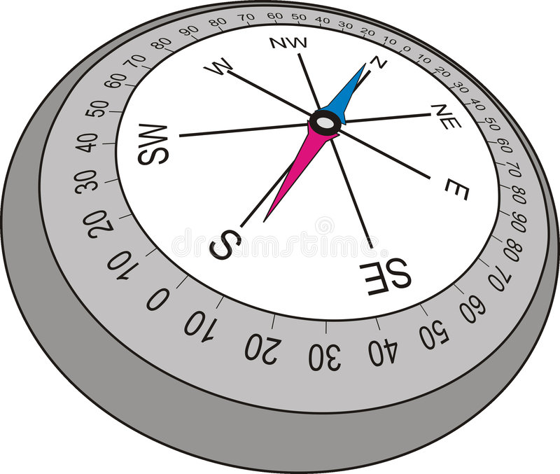 Compass in old style , vector illustration royalty free illustration