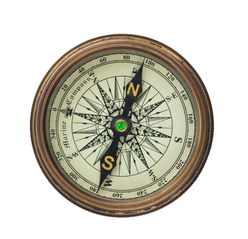 Free Compass On White Background Royalty Free Stock Image - 23035056