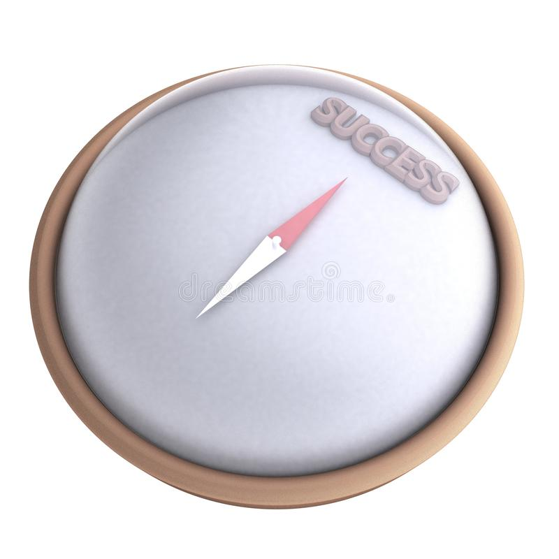 Compass pointing to success royalty free stock photos