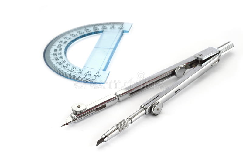 Compass and protractor royalty free stock images