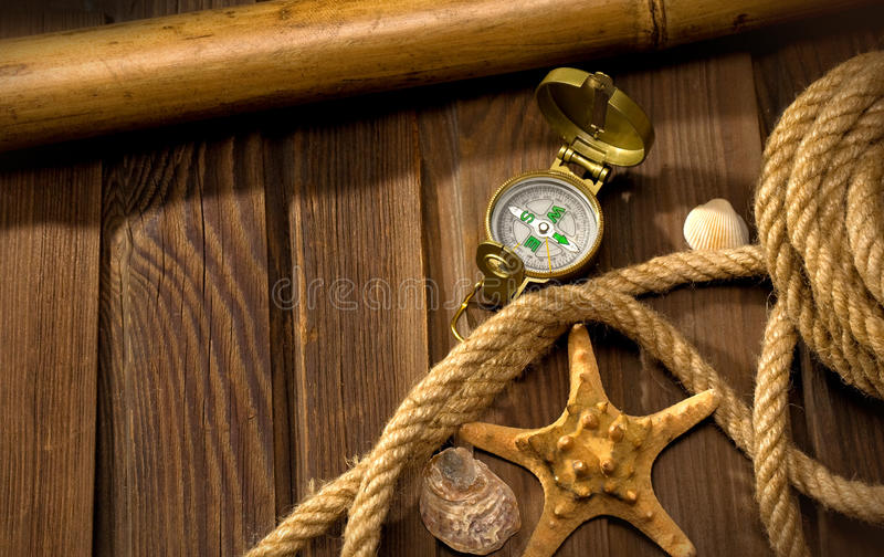 Download Compass and rope stock photo. Image of direction, decoration - 22411216