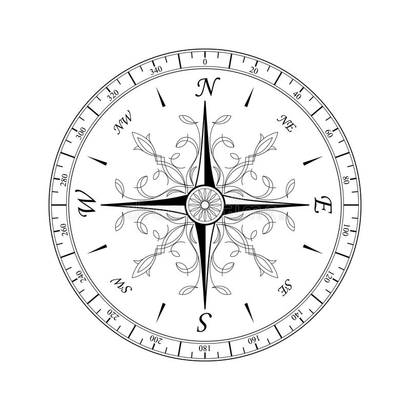 Compass Rose#1 royalty free stock images