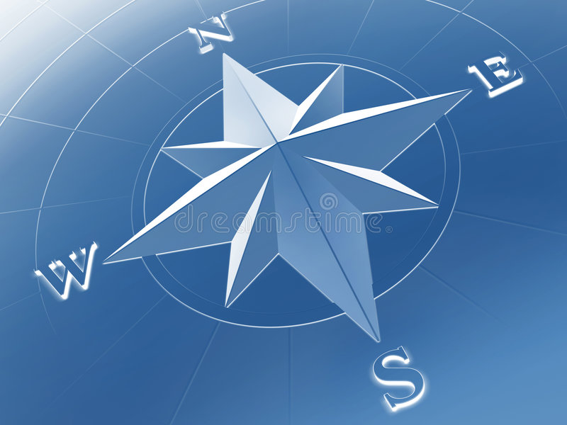Compass rose. Rendered image of compass rose royalty free illustration