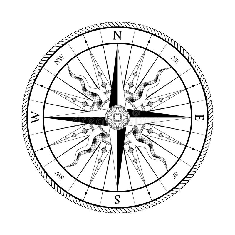 Compass Rose#3 royalty free stock images