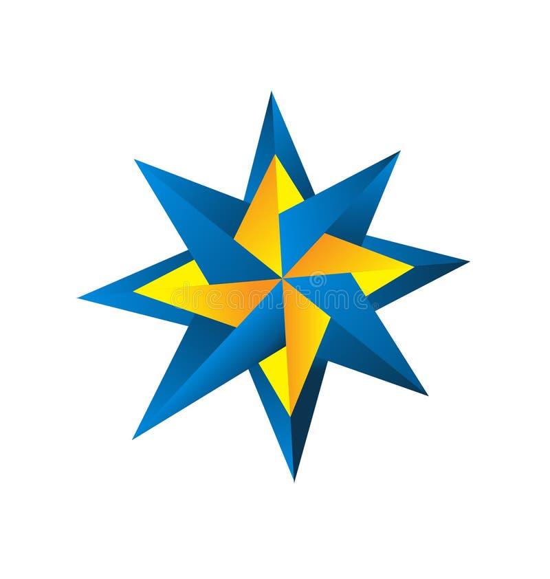 Compass rose design logo royalty free illustration