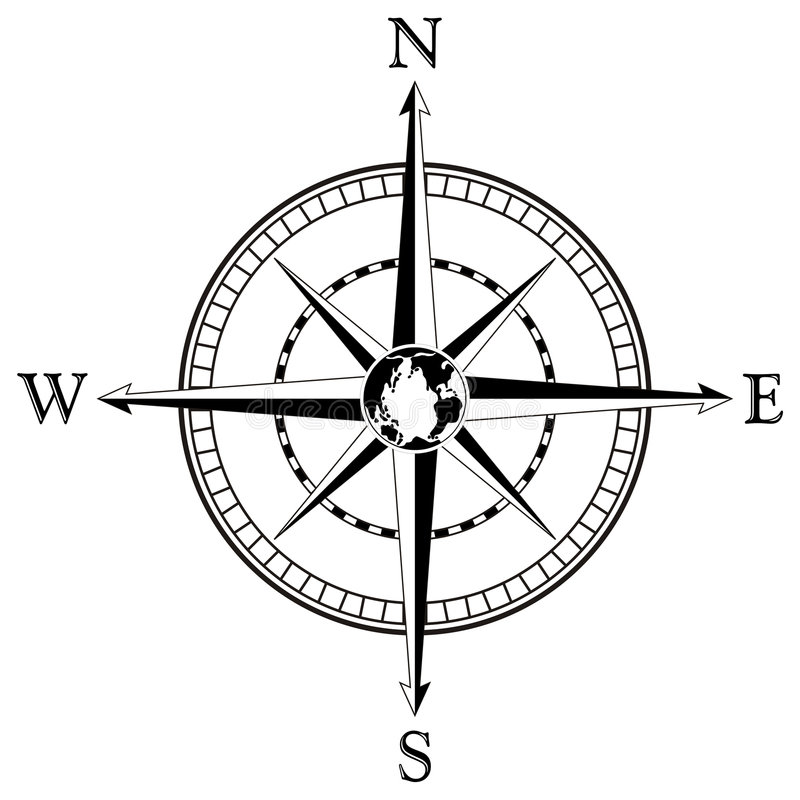 Download Compass rose illustration stock vector. Image of lost - 4389596