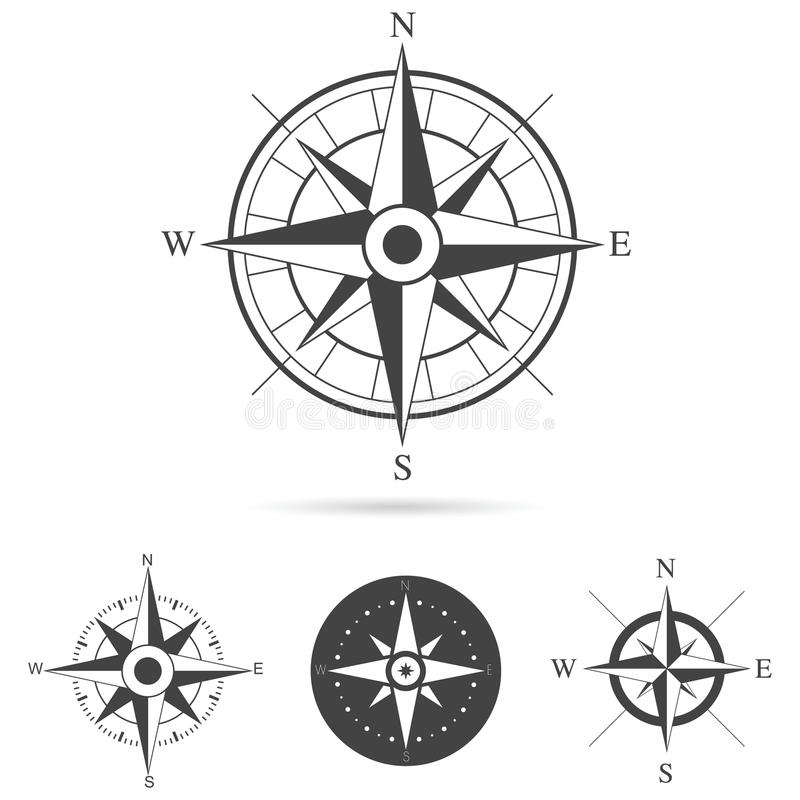 compass rose vector collection stock vector illustration of geography element 45005724. Black Bedroom Furniture Sets. Home Design Ideas
