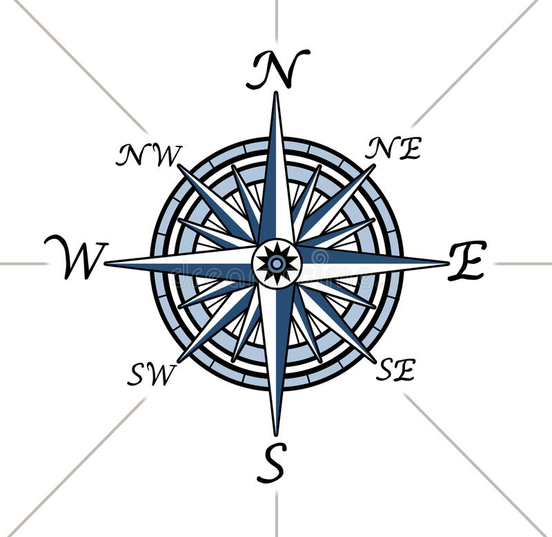 Download Compass Rose On White Background Stock Illustration - Illustration of topography, pole: 21677385