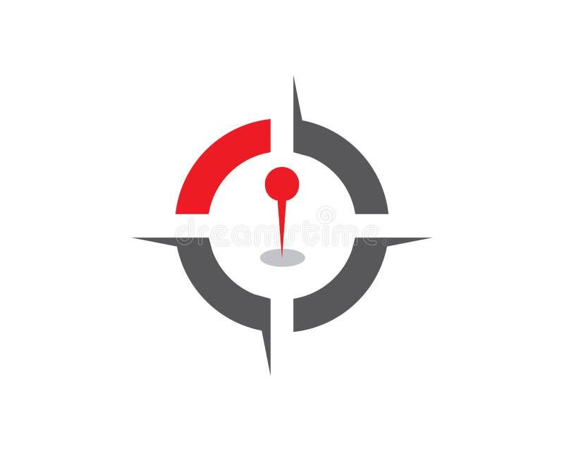 Compass signs and symbols logo vector illustration