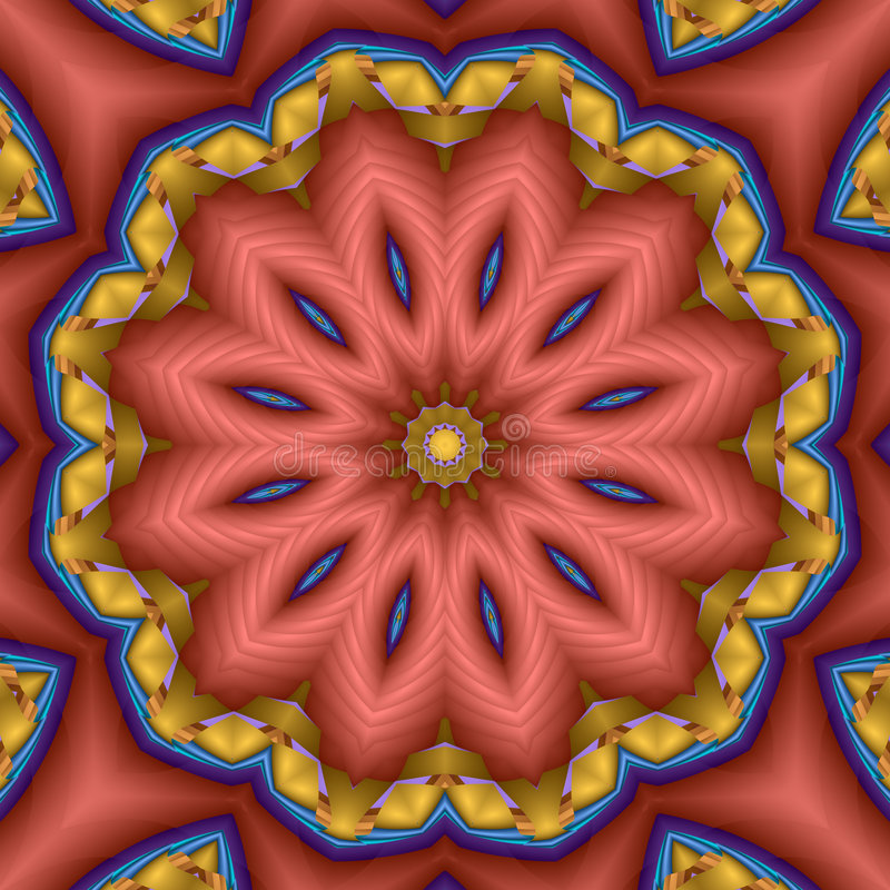 Compass star flower mandala royalty free stock image