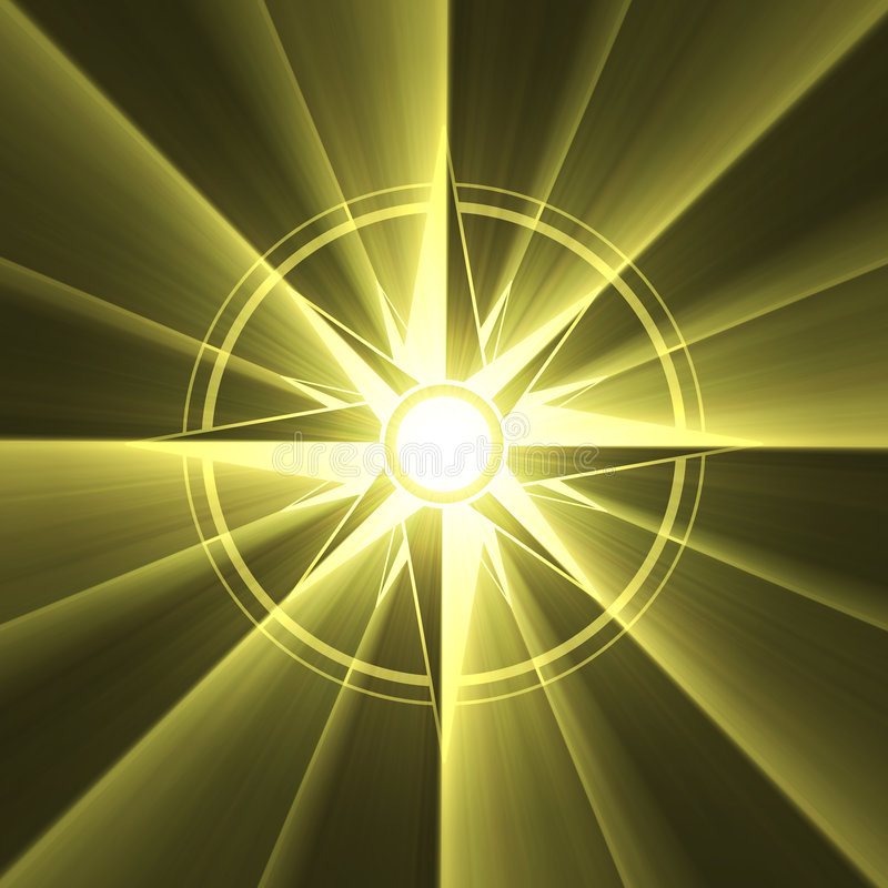 Download Compass Star Symbol Sun Light Halo Stock Illustration - Illustration of compass, decorative: 3644776