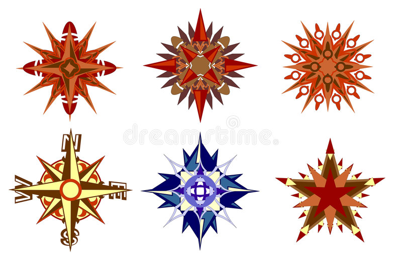 Compass And Stars Stock Images
