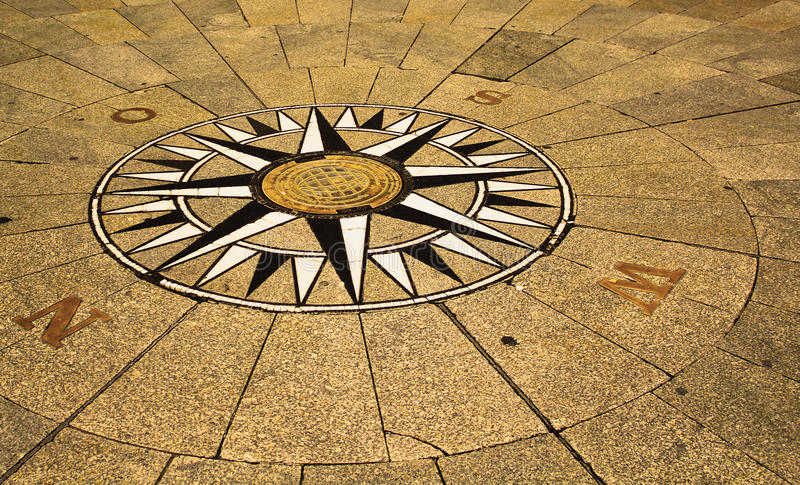 The Compass On Street Stock Photography