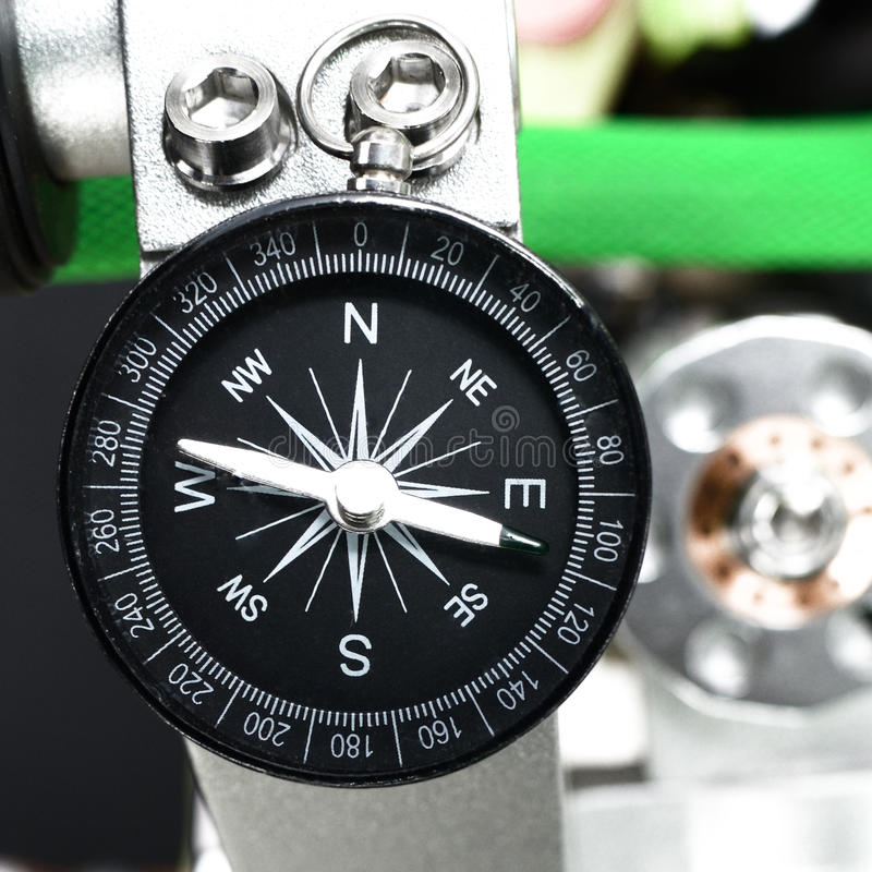 Compass tool. Nice Compass tool object top view royalty free stock photography