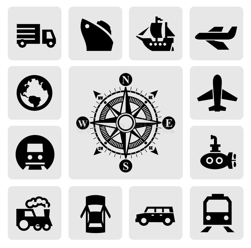 Download Compass and transport stock vector. Image of north, isolated - 28765767