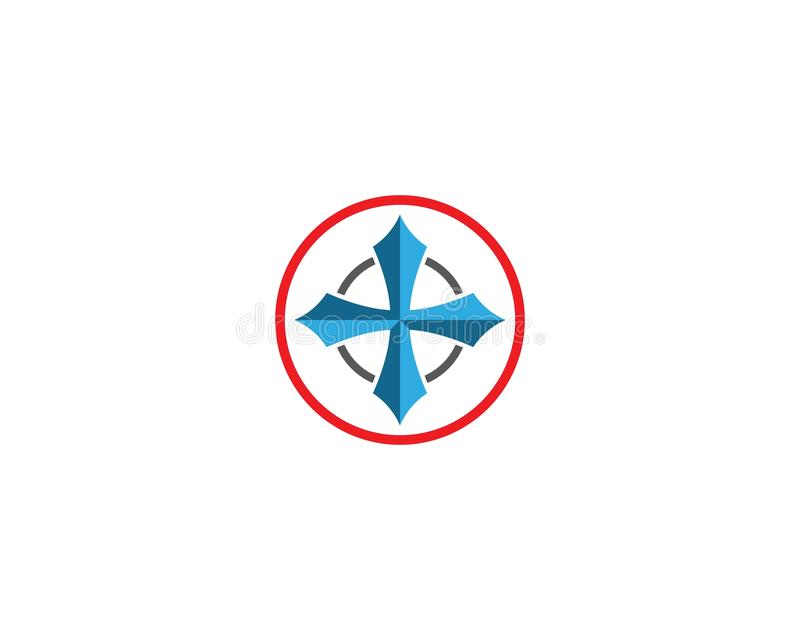 Compass vector icon stock illustration