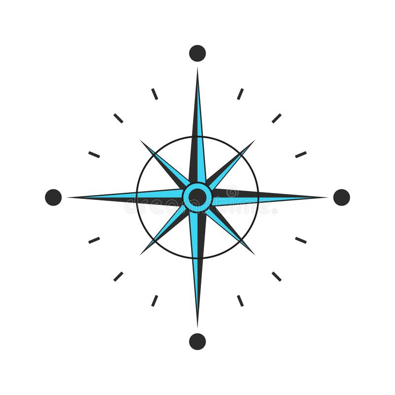 Compass vector Icon. navigation and traveling sign. Black compass with arrows vector eps10 vector illustration
