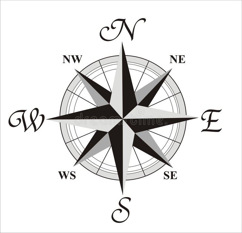 Free Compass Wind Rose Royalty Free Stock Photography - 3398207