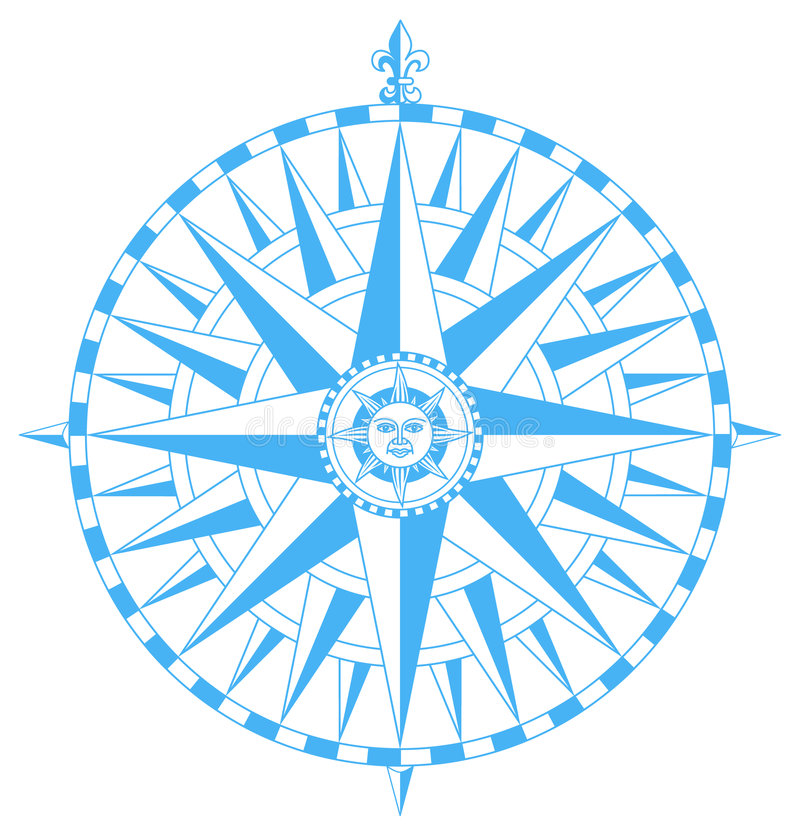 Compass wind rose vector vector illustration